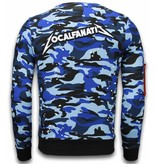 Local Fanatic Exclusief Camo Embroidery - Sweater Patches - Blauw