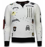 Local Fanatic Exclusief Basic Embroidery - Sweater Patches - Wit