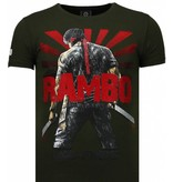 Local Fanatic Rambo Shine - Rhinestone T-shirt - Groen