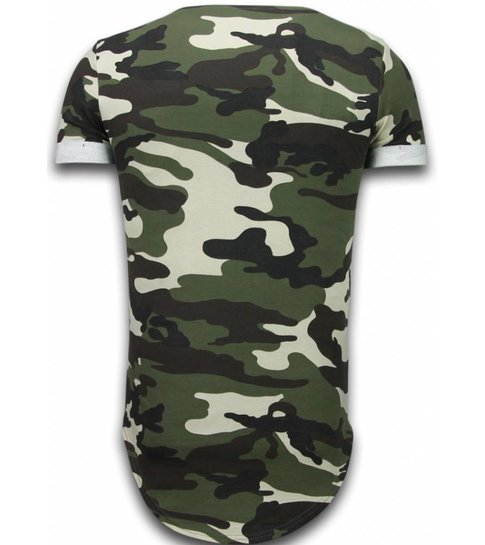 Uniplay Known Camouflage T-shirt - Long Fit Shirt Army - Groen