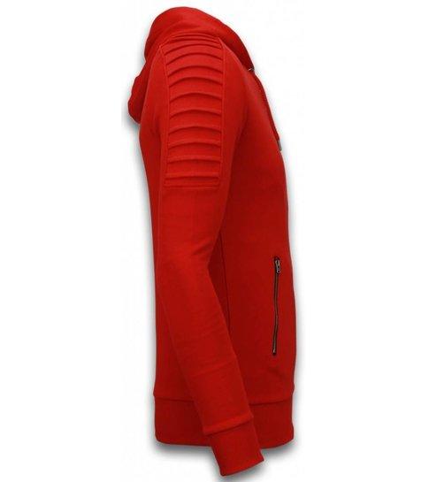 Uniplay Ribbed Vest - Long Fit Biker Trend - Rood