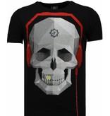 Local Fanatic Skull Bring The Beat - Rhinestone T-shirt - Zwart