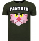 Local Fanatic Panther For A Cougar - Rhinestone T-shirt - Groen
