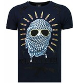 Local Fanatic Freedom Fighter - Rhinestone T-shirt - Blauw