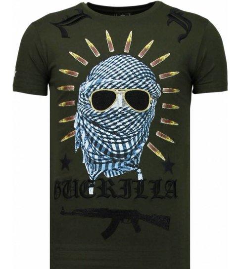 Local Fanatic Freedom Fighter - Rhinestone T-shirt - Groen