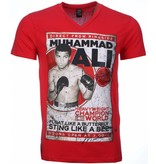 Mascherano T-shirt - Muhammad Ali Print - Rood