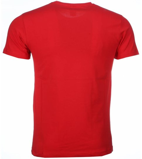 Local Fanatic T-shirt - Scarface Get Every Dollar Print - Rood