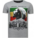 Local Fanatic Soul Rebel Bob - Rhinestone T-shirt - Grijs