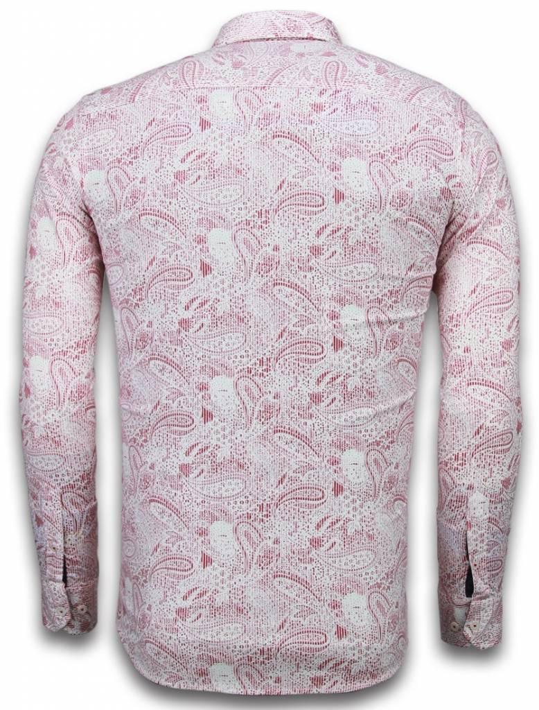 Rood Overhemd Slim Fit.Gentile Bellini Italiaanse Overhemden Slim Fit Overhemd Blouse