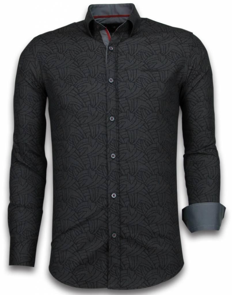 Overhemd Zwart Slim Fit.Gentile Bellini Italiaanse Overhemden Slim Fit Overhemd Blouse