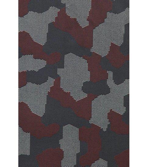TONY BACKER Italiaanse Overhemden - Slim Fit Overhemd - Blouse Dotted Camouflage Pattern - Zwart