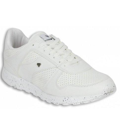 Cash Money Heren Schoenen - Heren Sneaker Low Runners - Wit