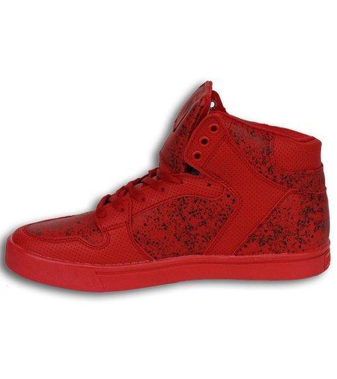 Cash Money Heren Schoenen - Heren Sneaker High - Touch Red Black