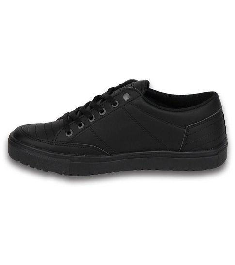 Cash Money Heren Schoenen - Heren Sneaker Low - Stunter Full Black - Zwart
