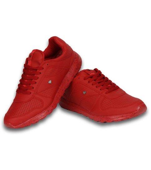 Cash Money Heren Schoenen - Heren Sneaker Low Runners - Rood