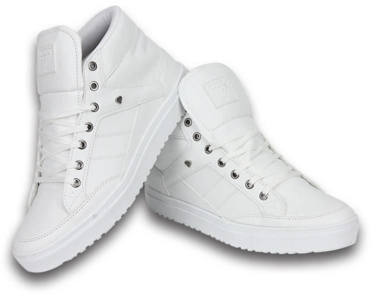 sports shoes b08e2 6ebc5 Cash M Heren Schoenen - Heren Sneaker Mid High - Wit ...