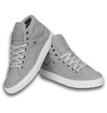 Cash Money Heren Schoenen - Heren Sneaker Mid High - Grey White - Grijs