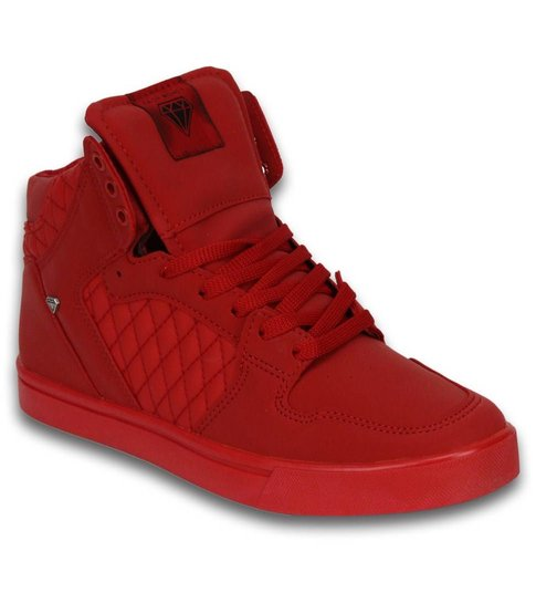 Cash Money Heren Schoenen - Heren Sneaker High - Jailor Red Matt Full Re