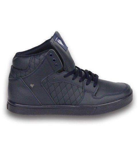 Cash Money Heren Schoenen - Heren Sneaker High - Blauw