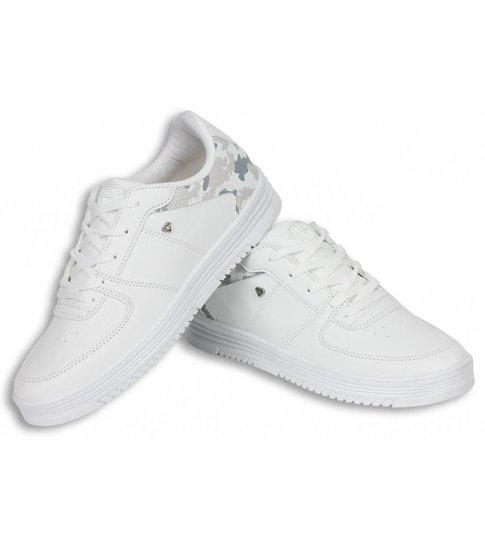 Cash Money Heren Schoenen - Heren Sneaker Low Camouflage Back - Wit