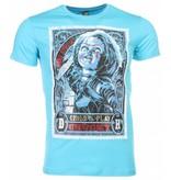 Local Fanatic T-shirt - Chucky Poster Print - Blauw