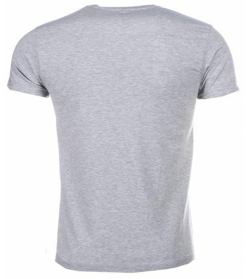 Local Fanatic T-shirt - Zidane Print - Grijs