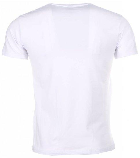 Local Fanatic - Masch. T-shirt - Scarface Money Power Respect Print - Wit
