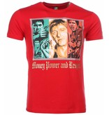 Local Fanatic T-shirt - Scarface Money Power Respect Print - Rood
