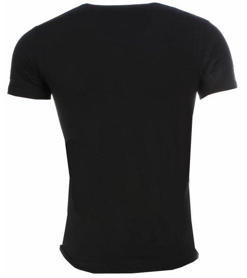 Local Fanatic - Masch. T-shirt - Scarface Money Power Respect Print - Zwart