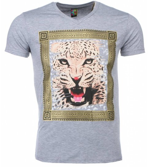 Local Fanatic T-shirt - Tijger Print - Grijs