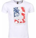 Local Fanatic T-shirt - NPA Print - Wit