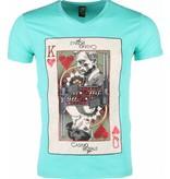 Local Fanatic T-shirt - James Bond Casino Royale Print - Groen
