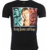Local Fanatic T-shirt - Scarface Money Power Respect Print - Zwart