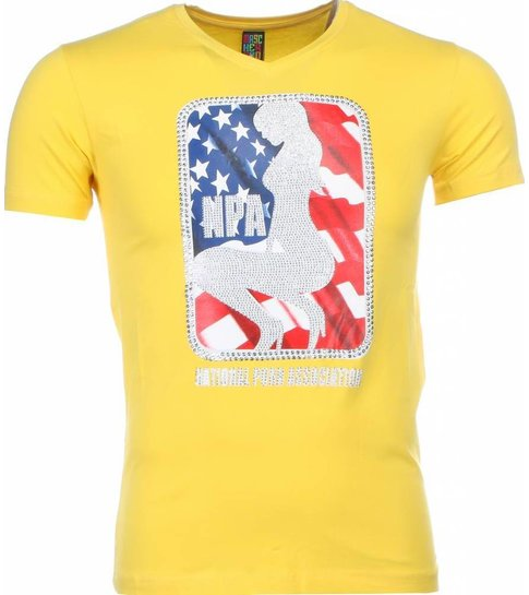 Local Fanatic T-shirt - NPA Print - Geel
