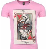 Local Fanatic T-shirt - James Bond Casino Royale Print - Roze