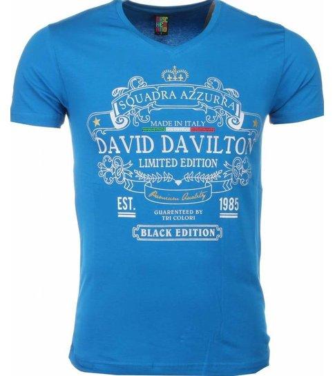 Local Fanatic T-shirt - Black Edition Print - Blauw