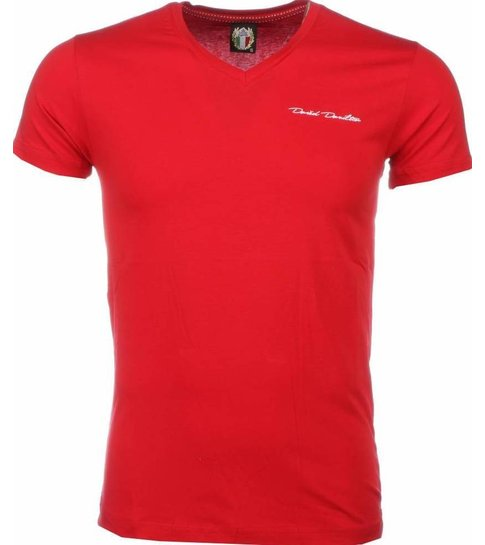 David Copper T-shirt - Blanco Exclusive - Rood