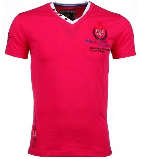 David Copper Italiaanse T-shirts - Korte Mouwen Heren - Riviera Club - Roze