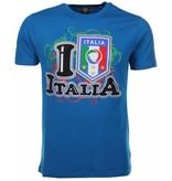 Local Fanatic T-shirt I Love Italia - Blauw