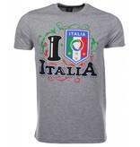 Local Fanatic T-shirt I Love Italia - Grijs