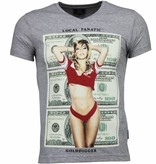 Local Fanatic Golddigger Dollar - T-shirt - Grijs