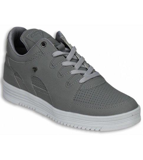 Cash Money Heren Schoenen - Heren Sneaker Low - States Grey White - Grijs
