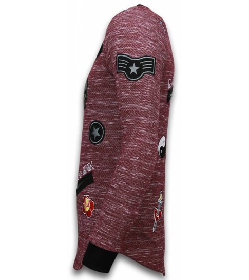 Local Fanatic Longfit Embroidery - Sweater Patches - Elite Crew - Bordeaux