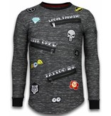 Local Fanatic Longfit Embroidery - Sweater Patches - Elite Crew - Zwart