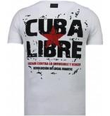 Local Fanatic Presidente - Rhinestone T-shirt - Wit