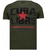 Local Fanatic Presidente - Rhinestone T-shirt - Groen