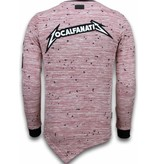 Local Fanatic Longfit Asymmetric Embroidery - Sweater Patches - US Army - Roze