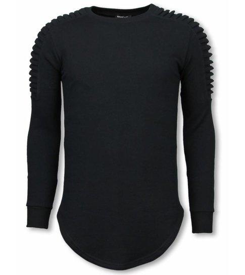 Uniplay Longfit Sweater - Biker Shoulder - Zwart