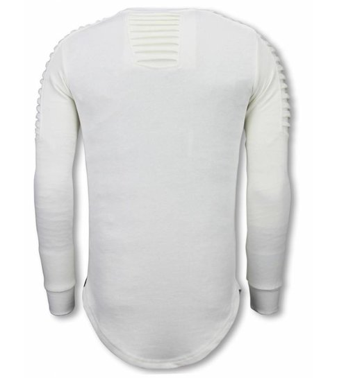 Uniplay Longfit Sweater - Biker Shoulder - Wit