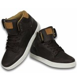 Cash Money Heren Schoenen - Heren Sneaker High - Vintage Choco